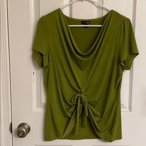 East 5th Brand Olive Green Top w/ Draped Neckline